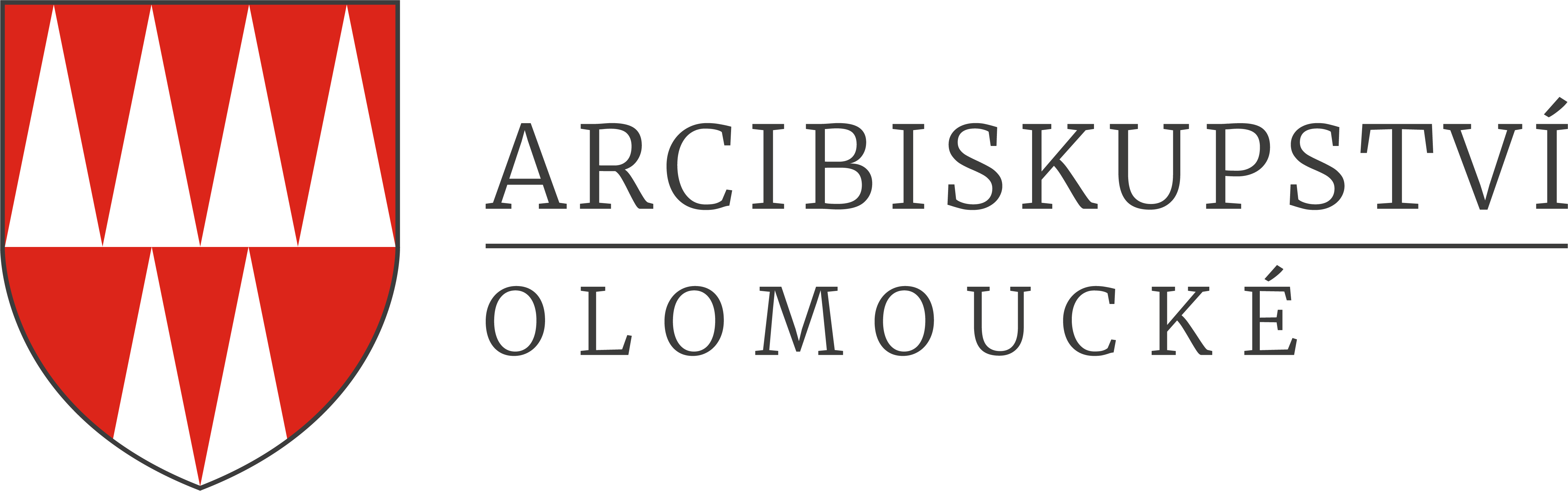 Logo Arcibiskupství olomoucké - horizontální varianta