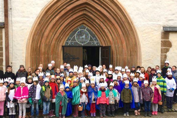 Požehnání pro koledníčky Tříkrálové sbírky v Uničově